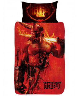 Hellboy Single Duvet Cover and Pillowcase Set