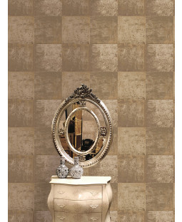 Metallic Metal Panel Wallpaper - Gold - 65163 Holden