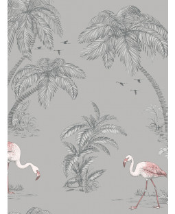 Holden Flamingo Lake Wallpaper - Grey 12381
