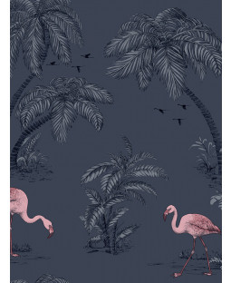 Holden Flamingo Lake Wallpaper - Midnight Blue 12382