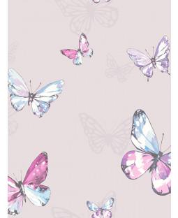 Holden Amelia Butterflies Wallpaper - Heather / Pink 98870