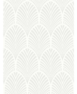 Gatsby Art Deco Glitter Wallpaper Dove Grey and White Holden Decor 65251