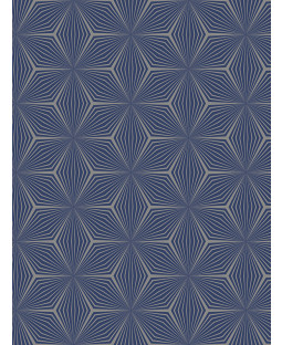 Geometric Star Wallpaper Silver / Blue Holden 12617