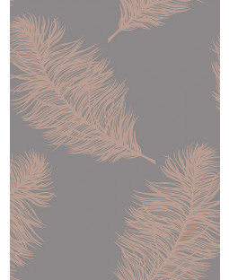 Fawning Feather Wallpaper Rose Gold / Grey Holden 12629