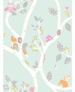 Woodland Adventure Wallpaper Soft Teal Holden 12490