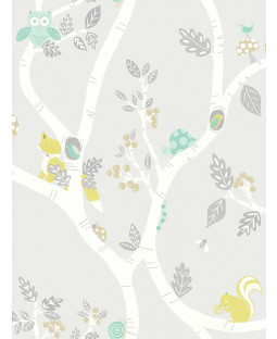 Woodland Adventure Wallpaper Grey Holden 12491