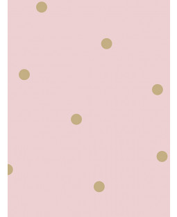 Dotty Wallpaper Pink / Gold Holden 12604