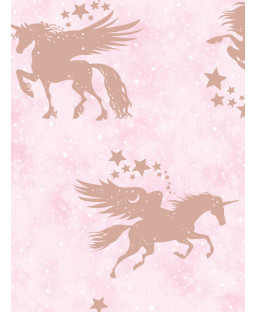 Over the Rainbow Iridescent Unicorns Wallpaper Pink / Rose Gold Holden 90951
