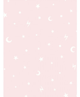Over the Rainbow Stars and Moons Wallpaper Pink Holden 90981
