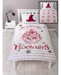 Harry Potter Letters Single Duvet Cover and Pillowcase Set