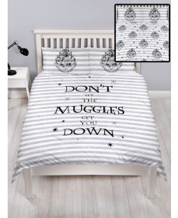Harry Potter Spell Double Duvet Cover and Pillowcase Set