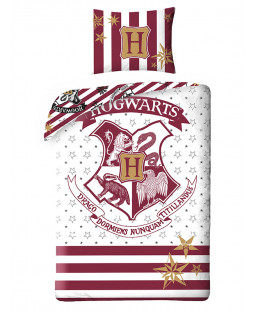 Harry Potter Hogwarts Single Cotton Duvet Cover Set