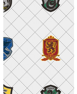 Graham & Brown Harry Potter House Pride Wallpaper White / Multi 108699