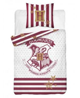 Harry Potter Crest White Single Duvet Cover Set - European Size