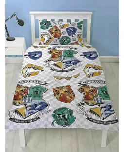 Harry Potter Grid Single Duvet Cover and Pillowcase Set