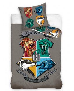 Harry Potter Hogwarts Houses Single Duvet Cover and Pillowcase Set - European Size
