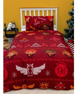 Harry Potter Christmas Charming Single Rotary Duvet Set