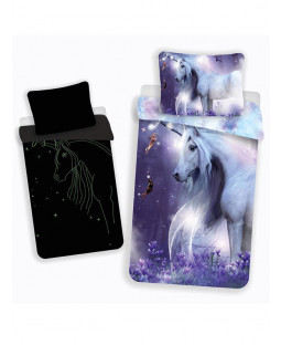 Mystical Unicorn Single Cotton Duvet Cover Set