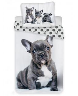 French Bulldog Single Cotton Duvet Cover Set