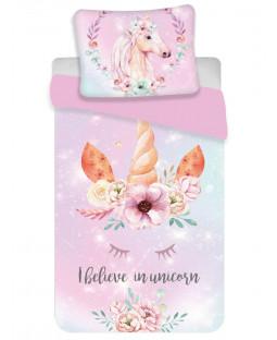 Unicorn Pink Single Cotton Duvet Cover Set