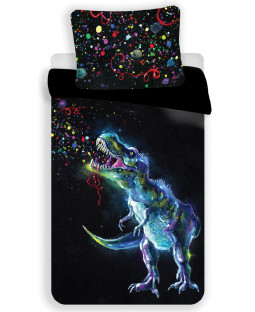 Dinosaur Colour Single Cotton Duvet Cover Set