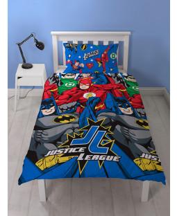 Justice League Inception Single Duvet Set blue boys children