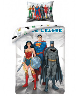Justice League Single Duvet Cover and Pillowcase Set