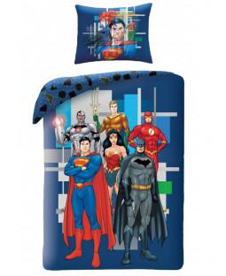 Justice League Blue Single Duvet Cover Set - European Size
