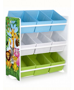 Jungle Animals 9 Bin Storage Unit