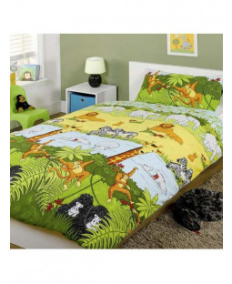 Jungle Animals Single Duvet Cover & Pillowcase Set