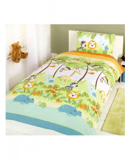 Jungle Boogie Single Duvet Cover & Pillowcase Set