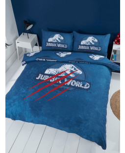 Jurassic World Claws Double Duvet Cover and Pillowcase Set