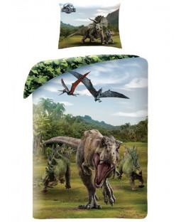Set copripiumino singolo Jurassic World verde - misura europea