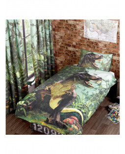 Jurassic Jungle Lined Curtains