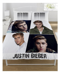 Justin Bieber Montage Double Duvet Cover and Pillowcase Set