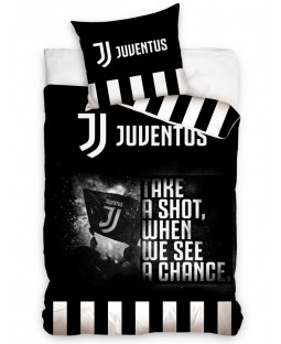 Juventus FC Shot Single Duvet Cover and Pillowcase Set