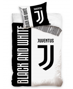 Juventus FC Black and White Single Duvet Cover Set 100% Cotton