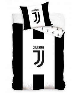 Juventus FC Black and White Single Cotton Duvet Cover Set