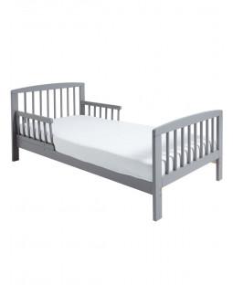 Cama clásica de madera para niños pequeños, colchón de espuma gris Plus Deluxe
