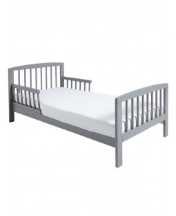 Classic Wooden Toddler Bed Grey Plus Deluxe Foam Mattress