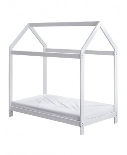 Wooden Toddler Bed House White Plus Deluxe Foam Mattress
