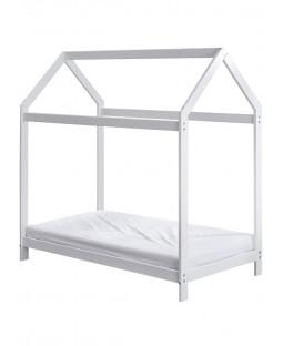 Colchón de espuma de madera para niños pequeños House White Bed Deluxe