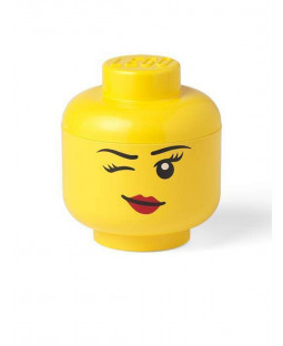 Lego Small Storage Head Girl - Winking Face