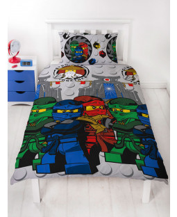 Lego Ninjago Castle Single Duvet Cover and Pillowcase Set