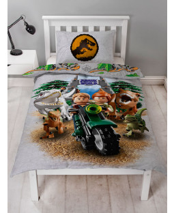 Lego Housse de couette simple Jurassic World Dinosaur