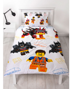 Lego Movie 2 Awesome Single Duvet Cover and Pillowcase Set