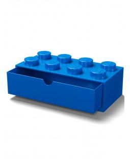 Lego Brick Storage Desk Drawer 8 - Blue