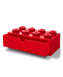 Lego Brick Storage Desk Drawer 8 - Red