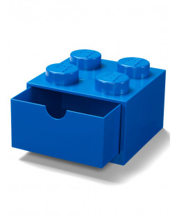 Lego Brick Storage Desk Drawer 4 - Blue