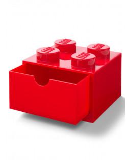 Lego Brick Storage Desk Drawer 4 - Red